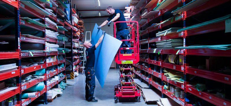 Lagerung von Faserstoffplatten wie Klingersil, Novapress, Centellen, AFM